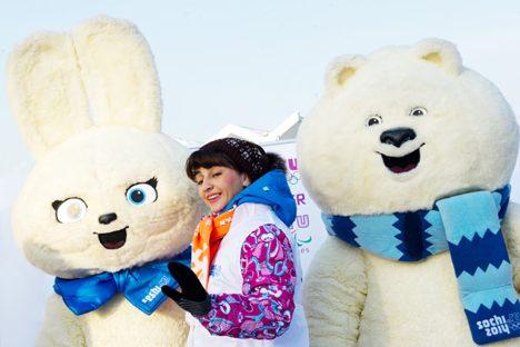 Olympische Maskottchen. Foto: RIA Novosti / Alexander Vilf