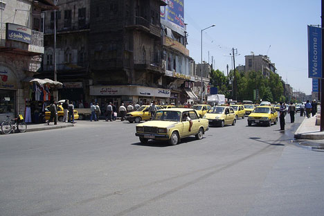 Taxifahrer in Aleppo,Syrien. Foto: Neil and Kathy Carey