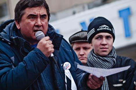 Wollen das System verändern - wenigstens in Woronesch: Aleksander Boldyrjew, Wjatscheslaw Sawalin. Foto: Pavlina Martinu
