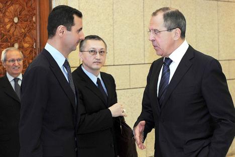 Baschar al-Assad und russischer Außenminister Sergej Lawrow. Foto: Reuters/Vostock Photo