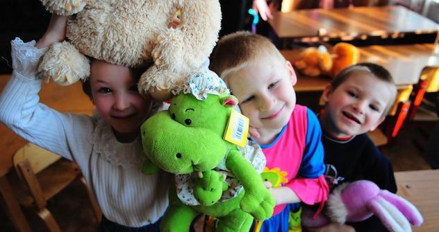 Die Kinder aus dem Shakhovsky Waisenhaus in der Moskauer Region .Foto: ITAR-TASS