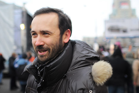 "Ilya Ponomarev attending the protests ""For Honest Elections"" at Academic Sakharov Prospect. Source: ITAR-TASS"