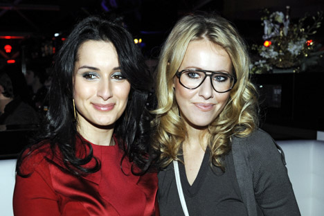 TV hosts Tina Kandelaki and Ksenia Sobchak are not regarded as businesswomen in the traditional sense – and yet their influence in Russian society is considered largely undeniable. Source: ITAR-TASS