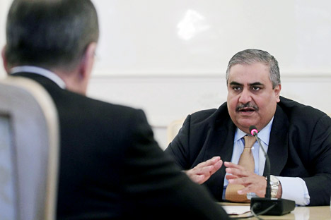 6th of February Bahraini Foreign Minister Shaikh Khalid bin Ahmed bin Mohammed Al-Khalifa met with Russian Sergei Lavrov in Moscow. Source: ITAR-TASS