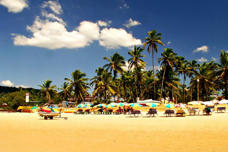 Goa beaches attract thousands Russian tourists every year. Photo: Julia Petrova