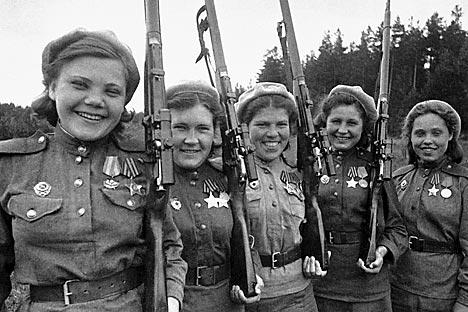 500,000 Soviet women served at the front from 1941-45 during the Great Patriotic War. Source: Vladimir Grebenev/RIA-Novosti