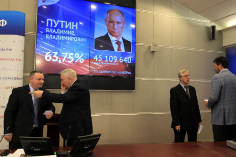 A Russian voter mulling his choice in the presidential polls. Source: AP