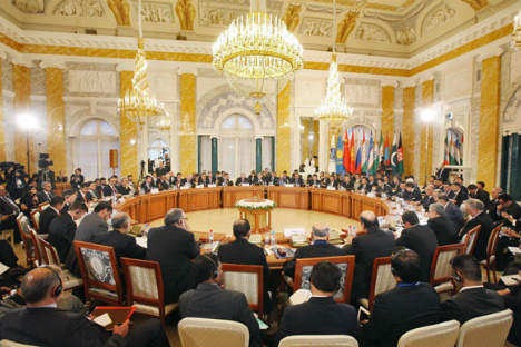 The 10th prime ministers' meeting of the Shanghai Cooperation Organization (SCO) is held in St. Petersburg, Russia, Nov. 7, 2011. Source: AFP/East-News