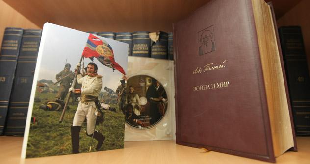 回答者の32%がレフ・トルストイの『戦争と平和』を学校必読書だと考えている。=サボスチヤノフ撮影/ロシースカヤ・ガゼータ(ロシア新聞)