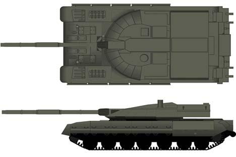 Protótipo de tanque com plataforma unificada Ilustração: btvt.narod.ru