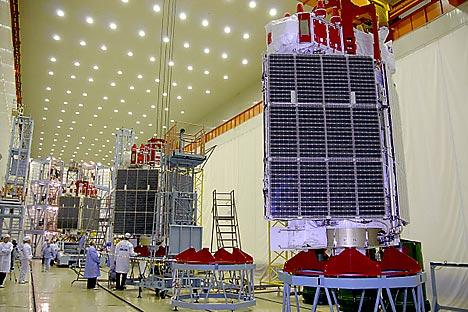 Preparativos para o lançamento de três satélites Glonass-M (novembro de 2011) Foto: RIA Nóvosti / Serguêi Kazak