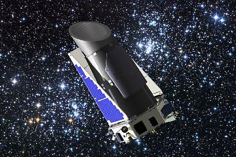 Telescópio espacial Kepler, especialmente criado para as pesquisas de exoplanetas Foto: Nasa