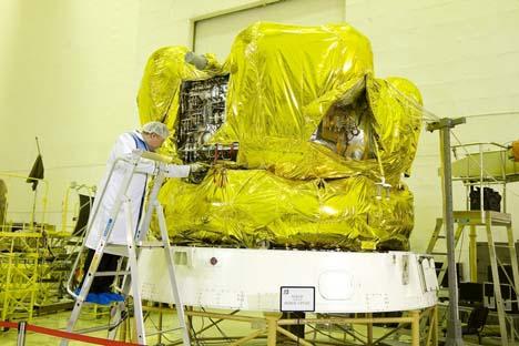 Estação interplanetária automática Fobos-Grunt Foto: federalspace.ru