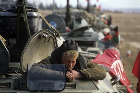 Los soldados soviéticos en Afganistán. Foto de Ria Novosti.