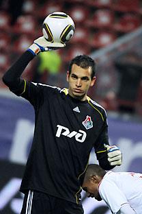 Guilherme Marinato, goleiro do Lokomotiv de Moscou Foto: TASS