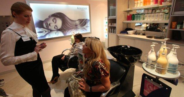 Iana Komarova, gerente de uma rede de salões de beleza de luxo  Foto: Ekaterina Frolova