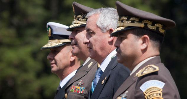 Presedente de Guatemala Otto Pérez Molina durante la inauguración. Foto de AP