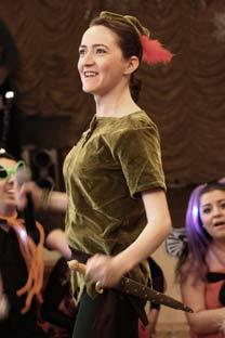 Victoria Velasco Matveev actuando en el papel de Peter Pan. Foto de archivo personal
