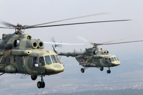Helicópteros Mi-171Sh. Foto de RIA Novosti
