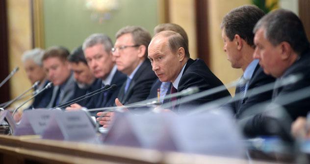 Reunión gubernamental en torno a las negociaciones de los precios de los aranceles con otros países. Foto de Itar Tass / Maxim Shemetov