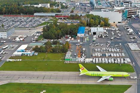 Vista aérea del aeropuerto de Domodédovo. Foto de Sergéi Mujamédov