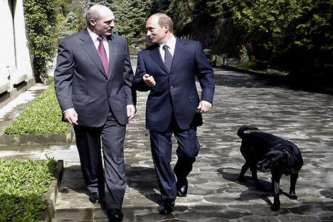 Putin y Lukashenko. Foto de servicio de prensa