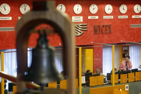La Bolsa de Moscú. Foto de Itar Tass.