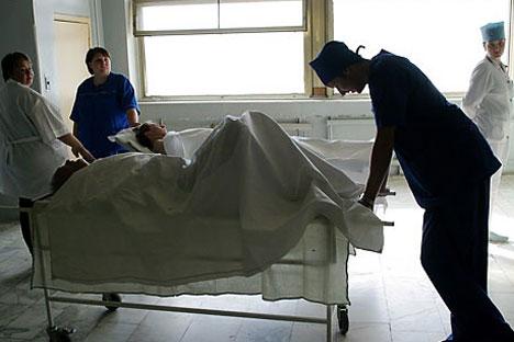 Hospital de la Ciudad de Moscú, donde sirven los reclutas de la PSS. Foto de Photoxpress