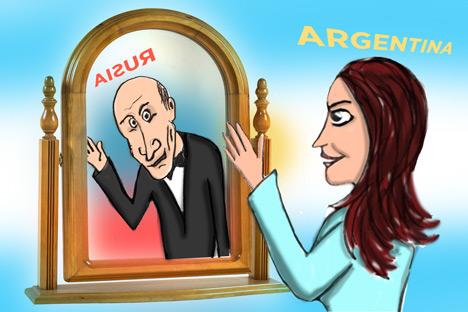 Bueno… Vladímir Vladimírovich Putin (VVP) volvió a ganarle a Cristina Fernández de Kirchner (CFK). Imagen de Niyaz Karim