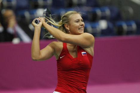 La presencia de Sharapova en Moscú fue la gran atracción de la eliminatoria. Foto: Federación Rusa de Tenis.