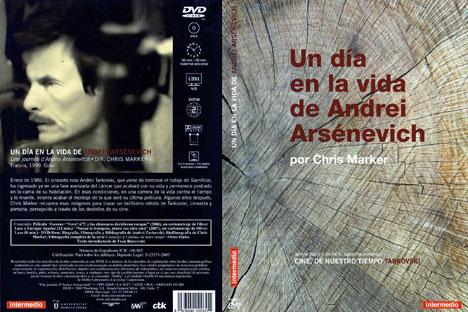 Caratula del DVD de la película sobre Tarkovski