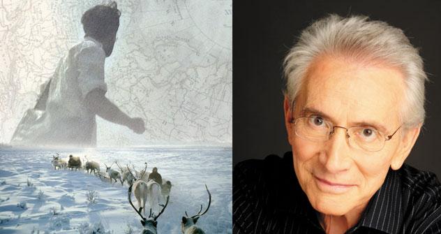 Marcos Aguini y la portada de su libro