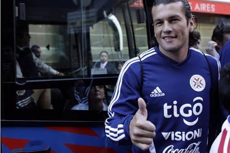 """Nelson  Valdés, el delantero nuevo del """"Rubín"""" de Kazán. Foto de REUTERS / Jorge Adorno"""