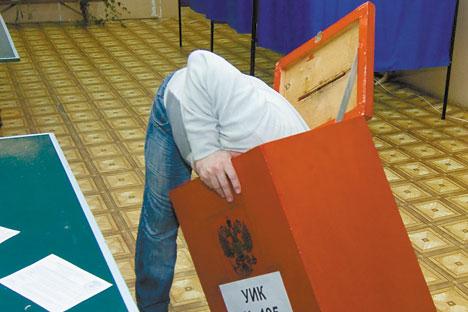 Recuento de votos en Nizhny Novgorod. Foto de Itar Tass