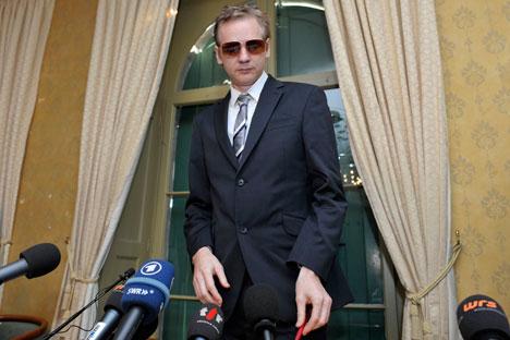 O fundador do Wikileaks, Julian Assange, preso em Londres sob acusação de estupro/ Foto: AP