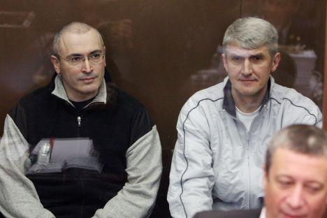 Mijaíl Jodorkovski y Platon Lébedev Foto de Víktor Vasenin, RG