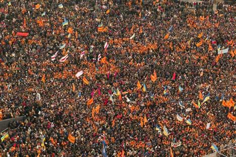 Rivoluzione arancione in Ukraina. Foto: Photoxpress