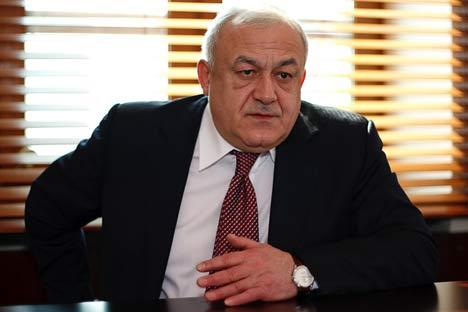 Taymuraz Mamsurov, presidente dell'Ossezia Settentrionale. Foto: Ruslan Sukhushin