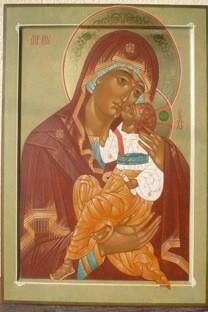 Nadia Lavrova. Icona Madre di Dio della Tenerezza