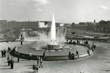Piazza Bolotnaya nel 1947 (Foto: Aleksei Gostev)