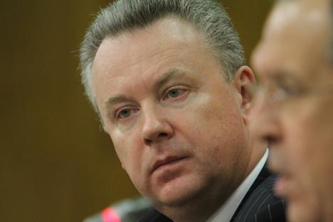Il portavoce della diplomazia moscovita Alexandr Lukashevic. Foto Itar-Tass