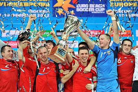 La Russia festeggia la vittoria (Foto: Vadim Pesnya/Ria Novosti)