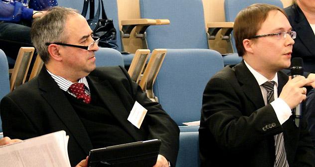 Il Direttore Eugene Abov (a sinistra) e Fedor Klimkin, Direttore delle Pubbliche Relazioni