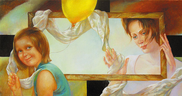 Not painted picture about yellow balloon. Naletova Olga (Foto: ufficio stampa)