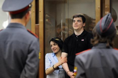 Gli assassini: Evgenia Chassis, 25 anni, e il compagno Nikita Tikhonov, 30 anni, non hanno mostrato il minimo segno di pentimento. Foto: Itar-Tass