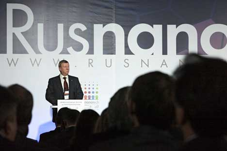 Chubais al Secondo forum internazionale di nanotecnologie. Foto: Ria Novosti