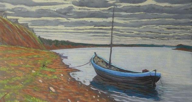 Pierre Tchakhotine. Barcone da pesca sul fiume Mezenj, regione di Arcangelo