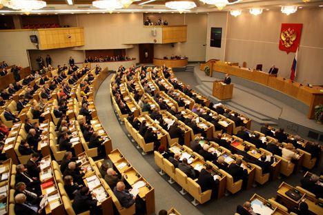 Una seduta del parlamento russo. Foto: Itar-Tass
