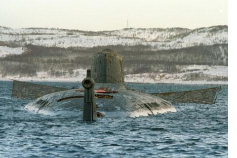 Il sottomarino nucleare Kursk. Foto dagli archivi di RG