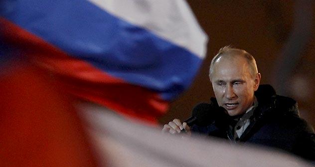Le lacrime di Putin dopo la vittoria (Foto: Reuters)